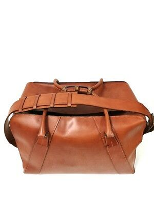 Vintage Foster&Son luxury handmade solid leather large Holdall bag !