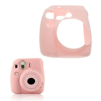 Soft Silicone Skin Cover Jelly Shell Case for Fujifilm Instax Mini 9/8/8+ -Pink