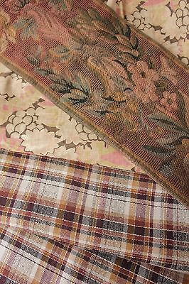 Vintage antique Tapestry pieces project bundle fabric material cutting pack