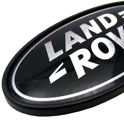 Range Rover Classic black+Silver Oval Land Rover badge upgrade new genuine part