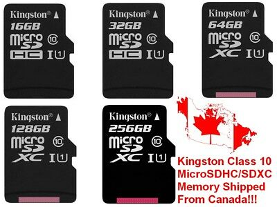 Kingston Canvas Select 256GB 128GB 64GB 32GB 16GB MicroSD Micro SD Memory Card