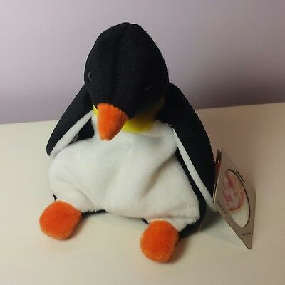 13dcefe26a0 NWT WADDLE the Penguin Ty Beanie Baby 3rd Generation tush new with tags