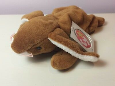 0c76e9bd60d NWT MINT EARS the Brown Rappit Ty Beanie Baby 3rd Generation tush new with  tags
