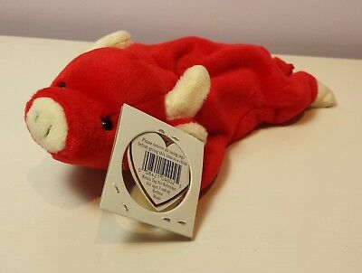 NWT SNORT the Red Bull Ty Beanie Baby 3rd generation tush new with tag Tabasco *