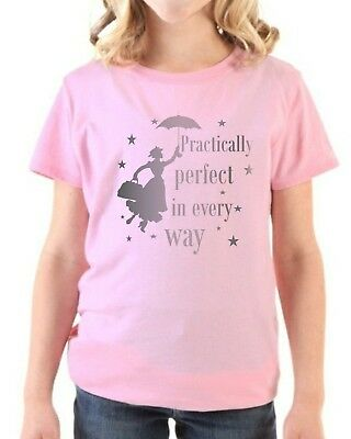 Childrens MARY POPPINS 'Practically Perfect In Every Way' T-shirt