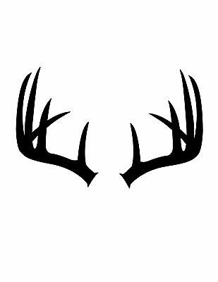 Pack of 3 Antlers Stencils Made from 4 Ply Mat Board 11x14, 8x10, 5x7
