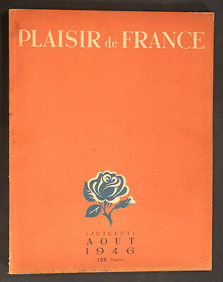 'plaisir De France' French Vintage Magazine Summer Issue July 1946