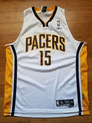 bb43ce123 Vtg Mens Reebok Indiana Pacers Ron Artest Swingman Jersey Size XL-White