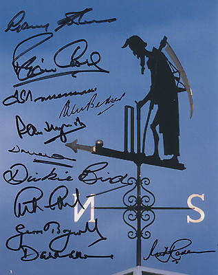 LORDS CRICKET LEGENDS In Person Signed 10x8 Photo BOYCOTT, SOBERS, TRUEMAN COA