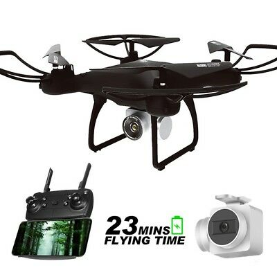 RC Drone Quadcopter WiFi 5.0MP HD Camera 3D Flips FPV Real-time Transmission