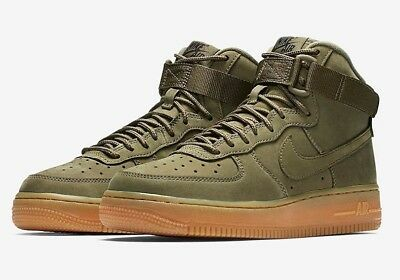 Nike Air Force 1 High WB GS 922066 202 Medium Olive Gum Brown UK 5.5 EUR 38.5