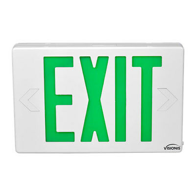 Emergency Led Exit Signs Series Visionis VIS-ESG 6 Inch – Green Exit Sign Light