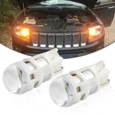 1Set Amber T10 W5W 2825 LED Bulbs For Parking Position Lights (Powered By Osram)