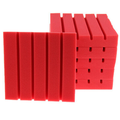 6x Soundproof Studio Sound Stop Panel Acoustic Absorption Foam KTV Red