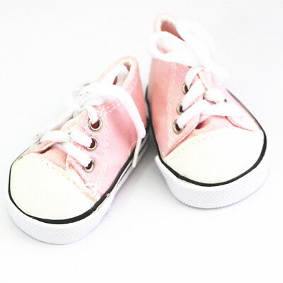 Doll Shoes Sneakers 18inch Dolls Canvas Flats for American Girl Light Pink