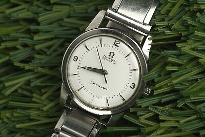 Vintage 1950'S Omega Seamaster 33.5Mm Steel Automatic Men's Watch Caliber 500