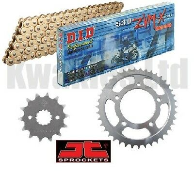 Suzuki GSF1250 Unfaired Bandit 2007-12 DID Gold ZVMX X-Ring Chain & JT Sprockets