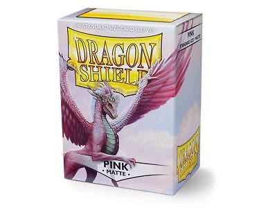Pink Matte 100 ct Dragon Shield Sleeves Standard Size FREE SHIPPING! 5% OFF 2+