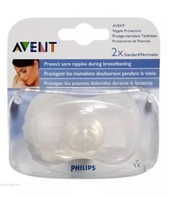 PHILIPS AVENT NIPPLE PROTECTOR 21 mm SORE CRACKED BREAST FEEDING x2 SCF156/01