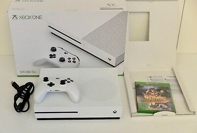 Microsoft Xbox One S 500GB Weiß Spielekonsole OVP+ Back to the Future - the Game