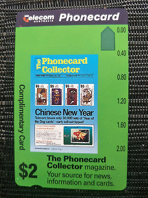 Mint Australian Phonecard $2 The Phonecard Collector Prefix 455