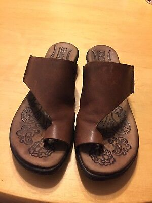 a5937ad8960 born handcrafted footwear women Sz6 leather Natural Brown Color sandals.