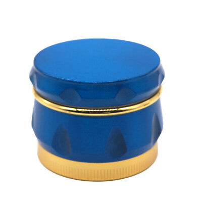 "1.6"" 44 mm 4 Piece Grinder Herb Spice Crusher Drum Design Wine Barrel BLUE Color"