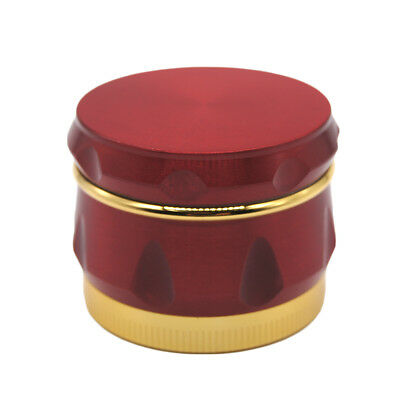 "1.6"" 44 mm 4 Piece Grinder Herb Spice Crusher Drum Design Wine Barrel RED Color"
