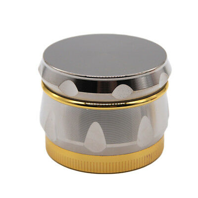 "1.6"" 44 mm 4 Piece Grinder Herb Spice Crusher Drum Design Wine Barr SILVER 16844"