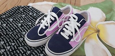 Vans authentic Old Skool Ladies S5 fits girls S3 Pink & Blue EUC minimal wear