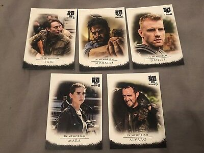 Topps Walking Dead trading cards Season 8 In Memoriam Set Target Exclusive