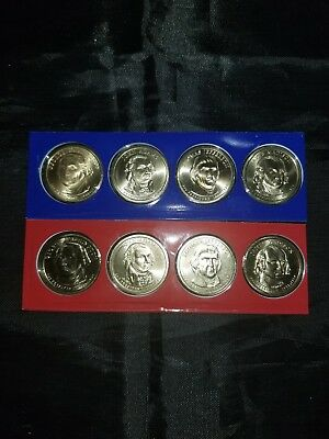 2007 P & D Presidential Dollar 8 Coin Lot Sealed Uncirculated Mint Set Cello
