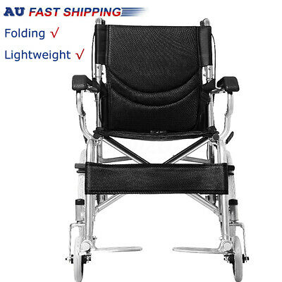 Folding Wheelchair Light Weight Manual Mobility Aid Park Brakes Push new brand