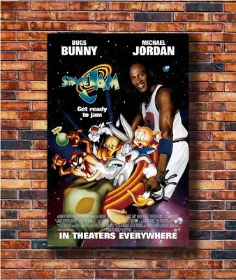 Art SPACE JAM MOVIE Sided ORIGINAL Rolled Ver MICHAEL JORDA Poster Gift C2625