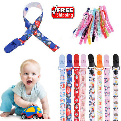 Kids Baby Anti-lost Dummy Soother Nipple Strap Pacifier Clip Chain Leash Holder