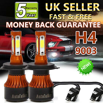2019 New 4-Side H4 9003 LED Headlight Car Bulbs High And Low Beam 400W 48000LM