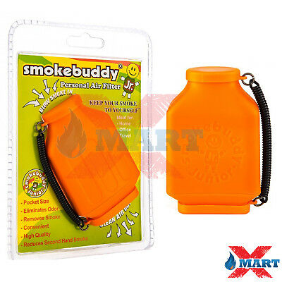 Smoke Buddy Jr - Personal Air Smell Scent Odor Purifier Cleaner Filter ORANGE