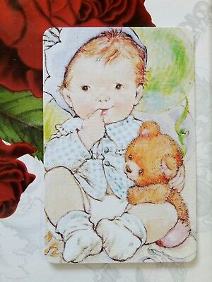 Playing cards swap cards blank back Sarah Kay girl boy baby