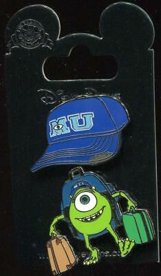 Monsters Inc University Mike & MU Baseball Hat 2 Pin Set Disney Pin