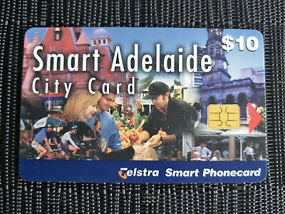 Used $10 Smart Adelaide Smart Card Phonecard 98010188P Exp 03/2001
