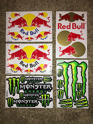 Red Bull Stickers and Monster Stickers! Energy Stickers! Variety pack