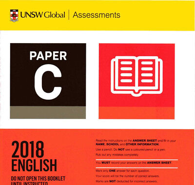 20 X ICAS Exam Past Test Papers - Year 5 6 7 8 C D E F G |  $1 / paper