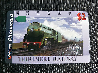 Mint $2 Thirlmere Railway Steam Festival 1994 Phonecard
