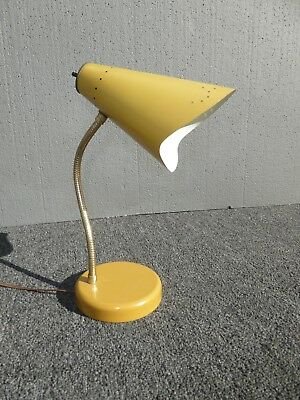 Vintage Mid-Century Modern Retro Yellow Adjustable Table Lamp
