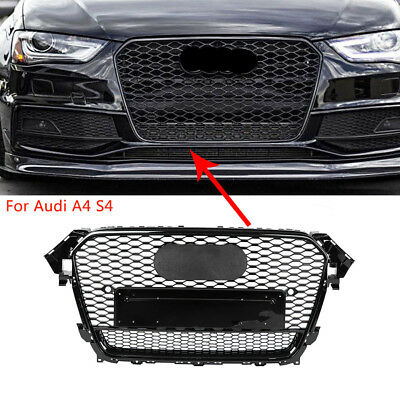 For RS4 Quattro Style Front Bumper Center Grille Grill Honeycomb for AUDI A4 S4