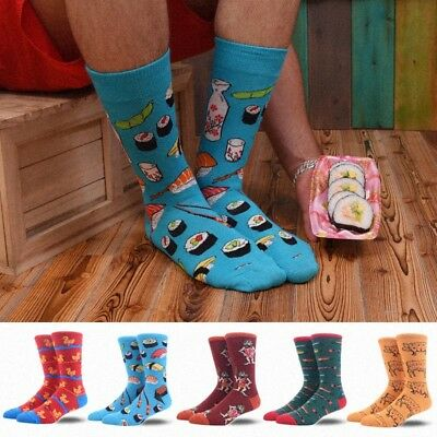 Mens Sushi Animals Dog Pig Novelty Socks Combed Cotton Big Size Crew Funny Socks