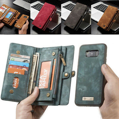 For Samsung Galaxy Note9 S9/8 Leather Purse Wallet Case Magnetic Removable Cover
