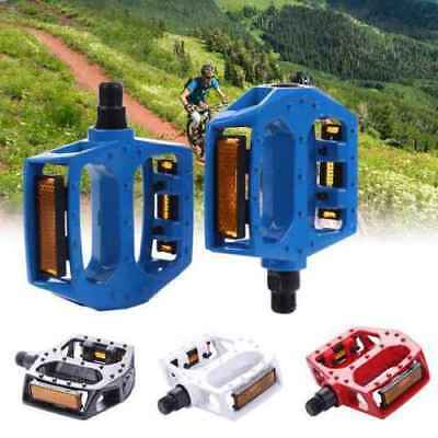 Bicycle Road Mountain Bike Cycle Bearing Aluminum Alloy Flat-Platfrom Pedals Uk