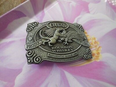 Collectable Cougar Whisky Metal Belt Buckle In Brand New Condition.