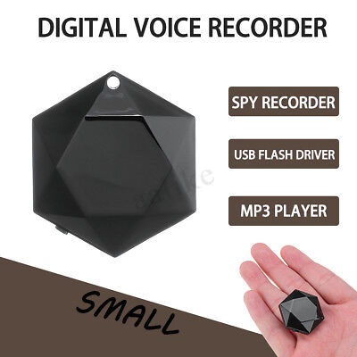 8G Digital Voice Recorder Pendant MP3 Player 20hours Work Time Small Spy Device
